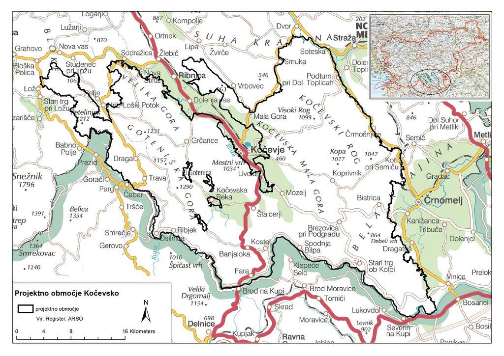 projektno območje Kočevsko