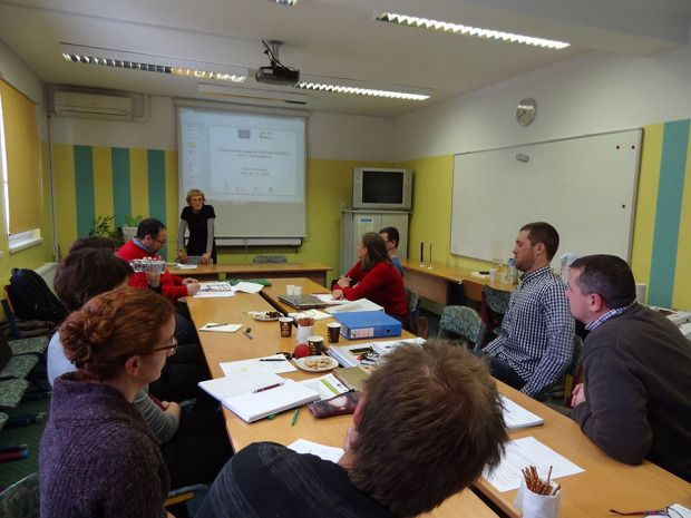 Meeting of the project partners in February 2015 and visit of external supervisor for Slovenia