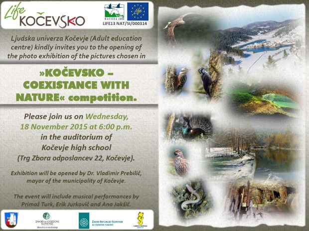»KOČEVSKO – COEXISTANCE WITH NATURE« photo exhibition opening