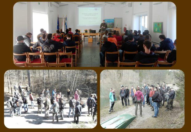 S študenti gozdarstva o naravovarstvenih ukrepih za ohranitev orla belorepca v Kočevski Reki