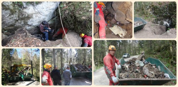 Report on cleaning the cave Smetljiva jama